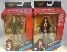 DC Comics Multiverse Wonder Woman & Steve Trevor Figurines NEW