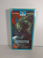 Monster VHS Interglobal Home Video Tape Jim Mitchum, John Carradine Rare OOP