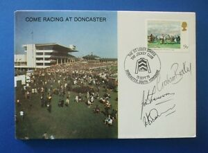 1979 ST LEGER STAKES DONCASTER COVER SIGNED BY JOHN FRANCOME & GRAHAM BRADLEY