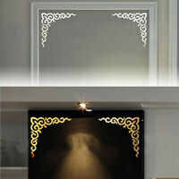 Wardrobe Wall Stickers Mirror Flower vine Acrylic Decal Home Decoration