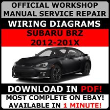 Servicio De Reparación Manual de taller #OFFICIAL Para Subaru BRZ cableado # 2012 - 2017