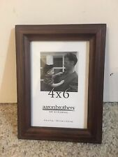 AARON BROTHERS PICTURE FRAME HEMINGWAY BROWN WOOD GRAIN 4 x 6