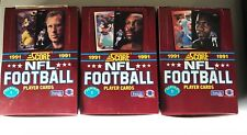 Lot Of 3 1991 Score FOOTBALL Boxes 108 Total Packs SERIES 1