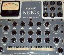 Precise Model 111 Tube Data * Calibration * Schematic * PDF * CDROM