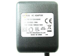 1000ma 12v AC-AC (AC Output) Mains Power Adaptor/Supply/Charger (1a 12w)