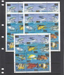 Space China Fish Fauna 2003 Liberia MNH 12 v set  perf  X 5 Wholesale lot