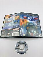 Nintendo GameCube Disc Case No Manual Tested Top Gun Combat Zones Ships Fast