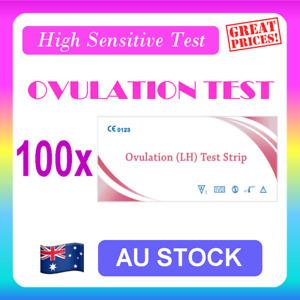 100 x Ovulation (LH) Test Strips Urine Fertility Kit OPK High Sensitive
