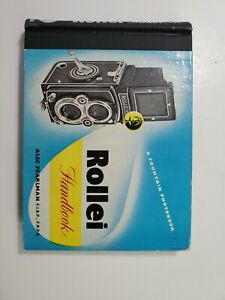 1956 Rollie  Rollieflex Camera Hard Cover Instruction Book Manual NO Reserve