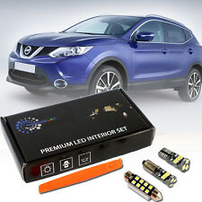 Nissan Qashqai J11 2013+ Premium LED Innenraumbeleuchtung Set 8 SMD Weiss Canbus