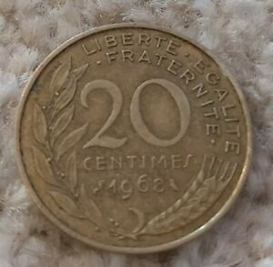 France 20 Centimes 1968 Coin By staceys_coin_corner