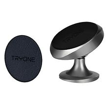 Tryone Magnetic Car Phone Mount Holder with Leather Metal Plate for iPhone 7 ...