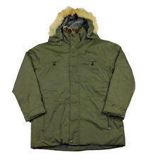 Marc New York Army Green Hooded Parka Jacket Mens Streetwear Size M Medium