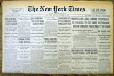 1931 NY Times newspaper AL CAPONE is found GUILTY of FEDERAL INCOME TAX EVASION