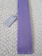 NWT Authentic Tom Ford Classic Solid Light Purple Silk Knit Flat End Tie $220