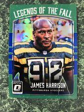 2016 Donruss Optic James Harrison Legends of the Fall Blue Prizm #/149 Steelers