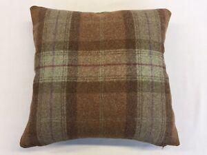 Heritage Skye Sage By Moon Furnishings 100% Pure New Wool Cushion Cover 40x40cm