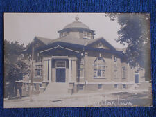 Red Oak IA/Christian Church/Sepia RPPC/1914 Happy New Year Message/Unposted