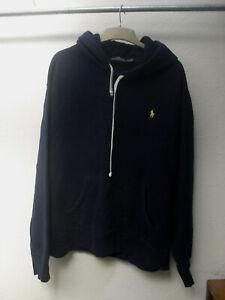 Designer Ralph Lauren Polo navy blue hooded sweatshirt hoodie size XL