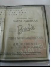 Barbie Northwest coast Native American certificate/Barbie India Americana