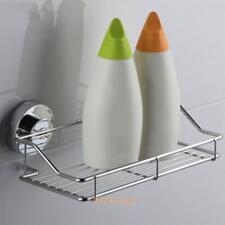 Super Suction Cup Bathroom Kitchen Corner Storage Rack Organizer Shower Shelf