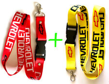 2 x CHEVROLET CHEVY RED YELLOW Lanyard Id Badge Keychain