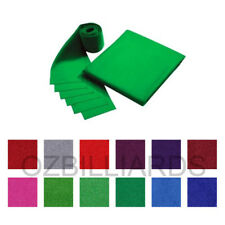 """DOUBLE-SIDED WOOL POOL TABLE CLOTH & 6 X FELT STRIPS SUITS 7'' 8"""" FREE DELIVERY"""