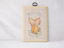 """Hallmark Betsey Clark Wood Plaque """"Friendship is a Bouquet of Beautiful Moments"""