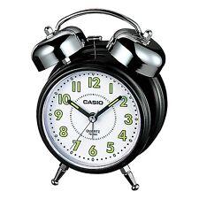 Casio Tq362-1B - White/Black Desk Top Bell Snooze Alarm Quartz Clock W/Battery