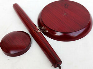 Medieval Wooden Armor Helmet Stand Red Color Wooden Armour Stand For helmet wood