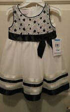 GIRLS 24 MONTHS BONNIE BABY DRESSY FORMAL DRESS NWT
