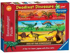 NEW! Ravensburger Deadliest Dinosaurs 60 piece giant floor jigsaw puzzle Age 4+