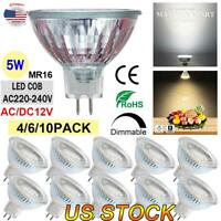 2-10PACK Dimmable LED MR16 Spotlight Light Bulbs 50 W Equivalent 5W Dimmable US