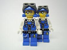 LEGO Figur Power Miners Dr. Brains  pm013 pm007   Doppelgesicht   Set 8961 8957