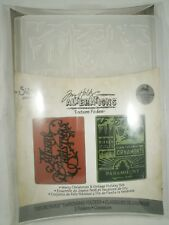 Merry Christmas & Vintage Holiday Embossing Folder Set, Sizzix, Tim Holtz, A2