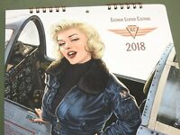US WW2 STYLE EASTMAN FLIGHT JACKET PIN-UP GIRL 2018 CALENDAR Shows A-2 B-3 B-6