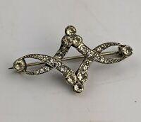 Art Nouveau Silver & Paste Brooch 935 German Jugendstil - Antique Jewellery Fine