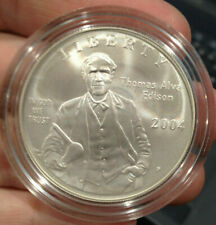 2004-P T. Edison Anniversary of the Light Bulb Silver Proof $1 - No Box/Case/COA