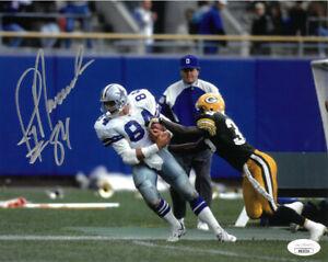 Jay Novacek signed Dallas Cowboys 8x10 Photo w/ #84- JSA Hologram