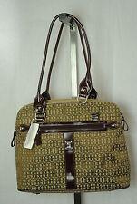 NEW $128  GIANI BERNINI womans medium Brown purse designer handbag satchel tote