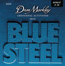 Dean Markley 2550 Blue Steel Electric Guitar Strings 8-38 XL gauges 8-38
