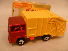 1979 MATCHBOX LESNEY SUPERFAST #36 REFUSE TRUCK NEW IN DAMAGED BOX