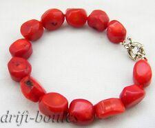 8''13mm massive red baroque Coral Bracelet