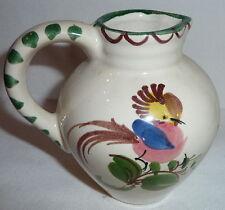 Vase - Kleiner weißer Tonkrug mit Vogel