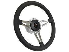 1955 - 1957 Bel Air / Slot Spoke Leather Steering Wheel, Hub & Button