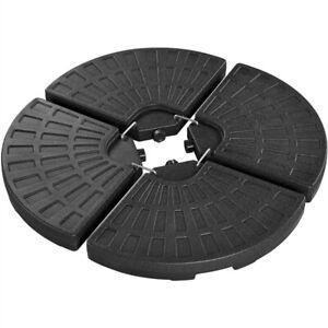 Fillable Patio Umbrella Base 4 Pieces Cantilever Offset Umbrella Stand Used