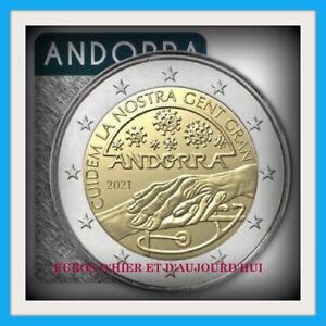 ANDORRE COINCARD 2 EUROS 2021 BU PRENONS SOIN DE NOS AÎNES PREVENTE NOUVEAU