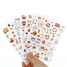 6 pcs/pack Cute Season 3 Potato Rabbit Decorative Diary Album Label Sticker DIY