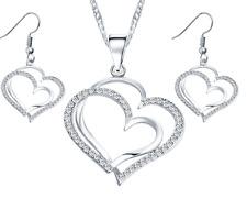 Heart Shape Earrings and Pendant Necklace Set