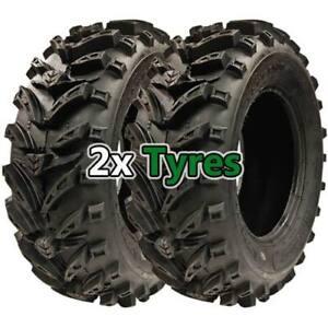 One Pair of 25x10.00-12 (25x10-12) Maxx Plus Quad/ATV (Two Tyres) 6PLY